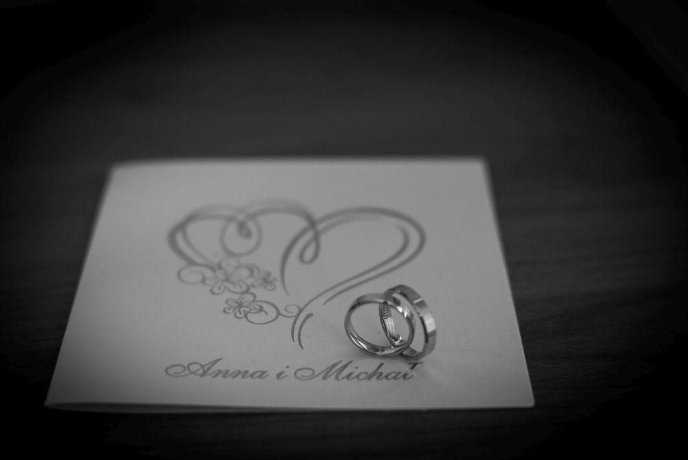 fotografia obrączek ślubnych