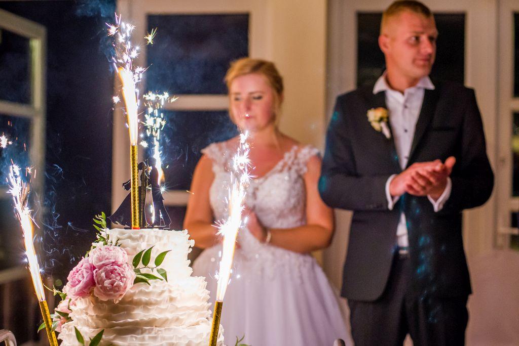 zdjęcia ślubne tort