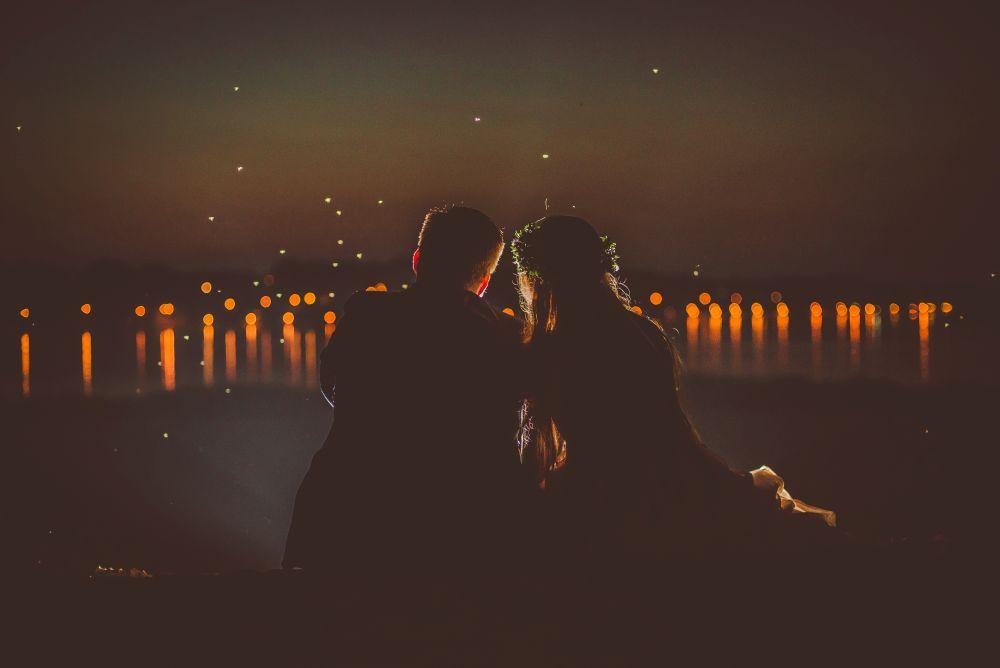 plener ślubny nocą
