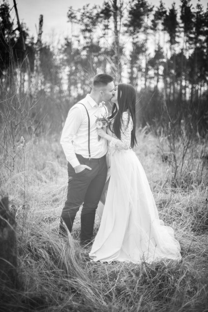 sesja ślubna czarno białe warszawa
