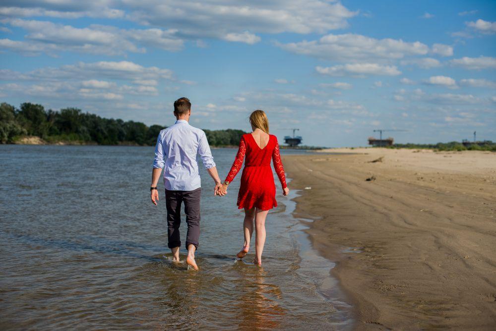 nad wisłą sesja na plaży