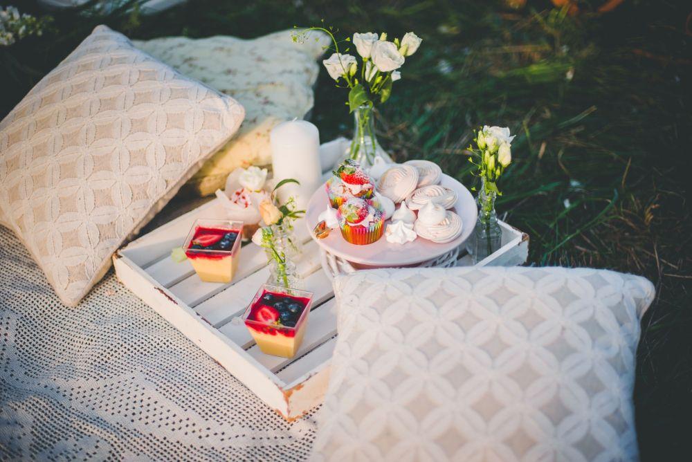 słodkości na plenerze ślubnym