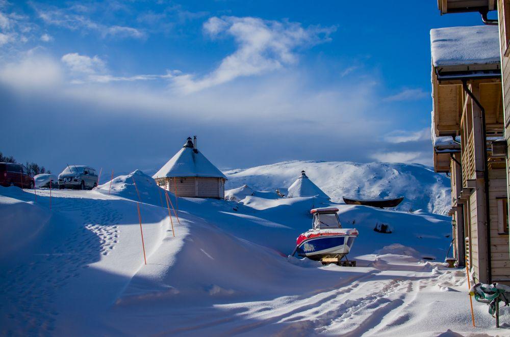 widoki w mikkelvik zima